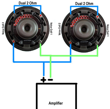 Wiring Subwoofers & Speakers To Change Ohm's – Abtec Audio Lounge on 2 ohm to 1 ohm, 1 ohm wiring-diagram, 2 ohm amp, 4 ohm wiring-diagram, 2 ohm and a 4 ohm wiring digram, 2 ohm speaker wiring configurations, 2 ohm speaker wiring diagrams, 2 ohm dvc wiring, 2 ohm subwoofer,