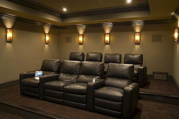 In A Media Room Seating Can Be Random With Nice Couch Flanked By Bean Bag Chairs Or Foldable That Put Away When More Standing Is
