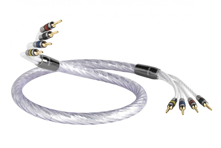 OFC Speaker Cable for HiFi and Home Cinema Systems 20 metres QED Performance Micro Slimline White Oxygen Free Copper